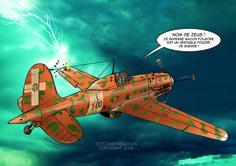 Extrait du livre les Zèles de la Royal Air Farce 1 publié aux Editions Révasion. Illustration de David VOILEAUX