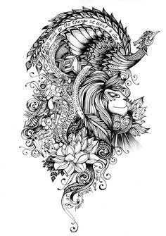 Tattoo Artwork by Saroj Patel, via Behance Kunst Tattoos, Tattoo Drawings, Skull Drawings, Tattoo Art, Bear Skull, Rosa Tattoo, Tattoo Video, Rose Sketch, Aesthetic Tattoo