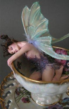 Sugarplum Tuckered Out Faerie - Nicole West Fantasy Art