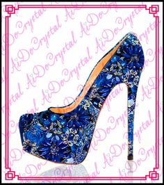 blue wedding shoes big rhinestone flowers decorated high heels www top  rhinestone blue wedding shoes handmade bridal crystal high heels woman 70cde2bae3a2