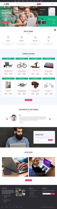 Auction Website Template Howardhawk  Business Coaching Multipage Website Template