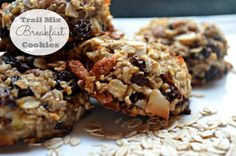 These are so good and completely healthy. Gluten free trail mix breakfast cookies (dairy free, too)