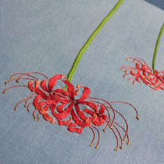 #야생화자수 #꽃무릇 #석산 #꿈소 #꿈을짓는바느질공작소 #embroidery #spiderlily #magiclily