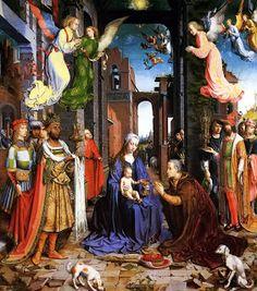 Adoración al Niño de los Magos.Jan Gossaert.- BARROCO.- 1508