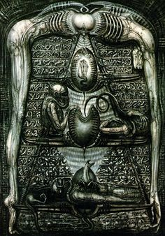 H.R. Giger (the Alien hieroglyphics)