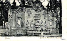 Fuente del acueducto en el antiguo pueblo de San Miguel Chapultepec