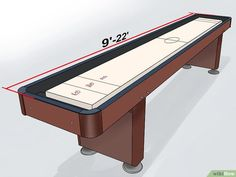 How to Make a Shuffleboard Table (with Pictures) - wikiHow