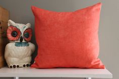 coral dip dye pillow cover // beach chic decor by FightingforJoy, $30.00
