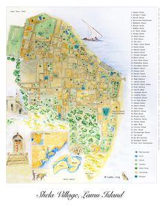 Map of Shela Village, Lamu Island by Lamu.org