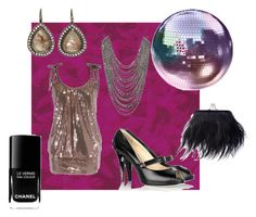 Disco by giubagnols on Polyvore featuring polyvore, fashion, style, Oscar de la Renta, Topshop, Barneys New York, Christian Louboutin, Chanel and clothing