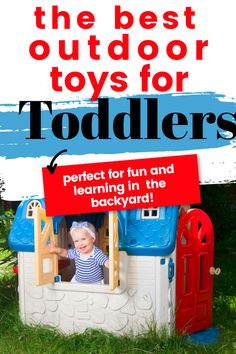 These are the top outdoor toys for toddlers that you should purchase for the summer in order to encourage gross motor development. These toys are great for boys and girls and are perfect for backyard playtime. Outdoor Toys For Toddlers, Best Outdoor Toys, Fun Activities For Toddlers, Toddler Age, Toddler Learning, Toddler Toys, Toddler Milestones, 2 Year Old Girl, Toddler Development