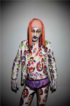 The Bas Kosters Fall/Winter 2014 Lookbook Highlights Flamboyant Looks #creepy #photos trendhunter.com