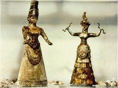 ország/város - Görögország - Kréta - Kígyós Istennők - Régészeti Múzeum - Iraklion