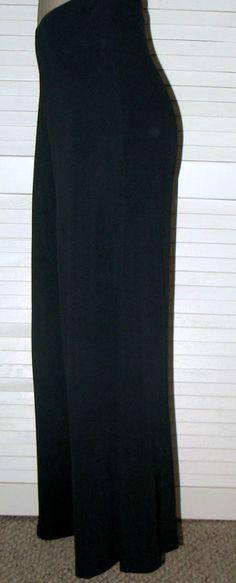 TALBOTS Pull on Full Cut Jersey Pants BLACK XL 1X Relaxed Fit #Talbots #PullonPants