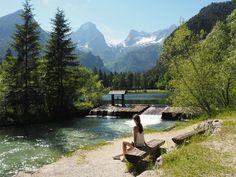 Schiederweiher in Hinterstoder - smilesfromabroad Surfboard, Roadtrip, Austria, Wanderlust, Winter, Camping, Mountains, Post, Places