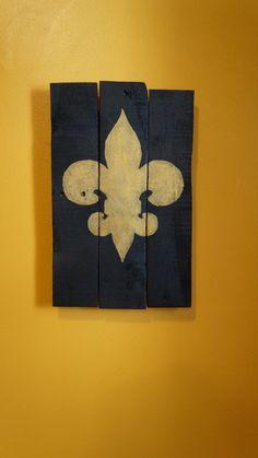 Black and Gold fleur de lis pallet art by PurplePaisleyPalace