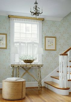 Jasper #wallpaper in #aqua from the Spring Lake collection. #Thibaut