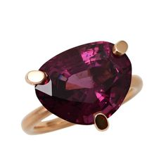 Purple Spinel Gold Ring | From a unique collection of vintage cocktail rings at https://www.1stdibs.com/jewelry/rings/cocktail-rings/