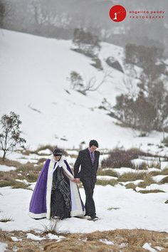 If you're having a winter wedding... perhaps you want a wedding cape!