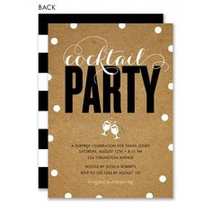 Modern And Krafty Cocktail Party Invitation