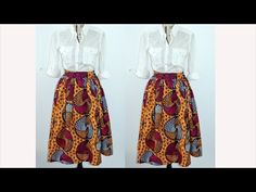 DIY Gathered Mid Skirt ( Easy Sewing) - YouTube