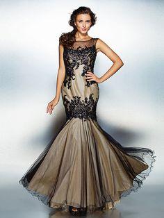 Dress Trumpet/Mermaid Jewel Floor-length Tulle - USD $169.99