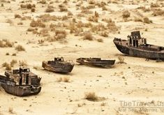 The Aral Sea was once one of the four largest lakes in the world, situated between Kazakhstan in the north and Uzbekistan in the south.