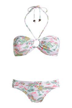 Cute #Esprit bandeau bikini with Hawaii pattern.