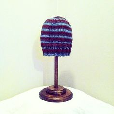 A personal favorite from my Etsy shop https://www.etsy.com/listing/479876960/mens-striped-knit-winter-hat-handmade