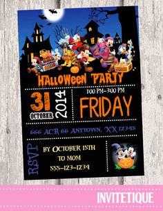 Pirate Mickey Halloween Invitations