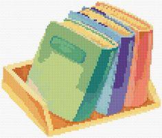 Books free pattern from Ann Logan cross stitch