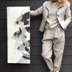 Hunderd shades of grey. Painting by Cordula Opitz.