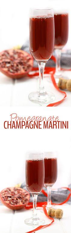 Pomegranate Champagne Martini + 5 Healthy Cocktail Recipes