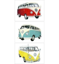 I am in LOVE with the VW Bus.  I want a lime green and white one.  At the very least it is on my bucket list to take an epic road trip in one!