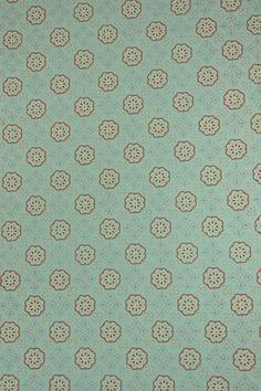 50er Jahre Vintage Tapete - geometrische Tapeten mit blauen und rosa Design