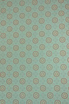 1950's Vintage Wallpaper - Geometric Wallpaper With Blue And Pink Design