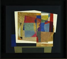 Vivid colors in this Ben Nicholson painting