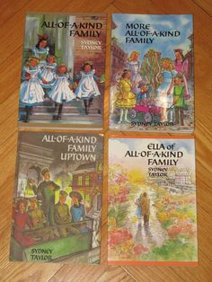 Lot 4 ALL OF A KIND FAMILY Books Sydney Taylor MORE UPTOWN DOWNTOWN L2