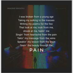 Imagine Dragon - lyrics - Believer