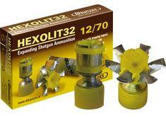 "exotic rounds   5rds - 12ga DDupleks 2 3/4"" 1 1/8oz Expanding Shotgun Ammo"