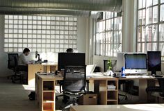 Open plan office with big window! #openplanoffice Cubicles.com
