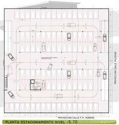planos de estacionamientos con medidas - Buscar con Google Car Park Design, Mall Design, Parking Design, Parking Plan, Parking Building, Car Parking, Architecture Drawings, Architecture Plan, Architecture Details