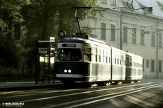 Morning tram in Cracow
