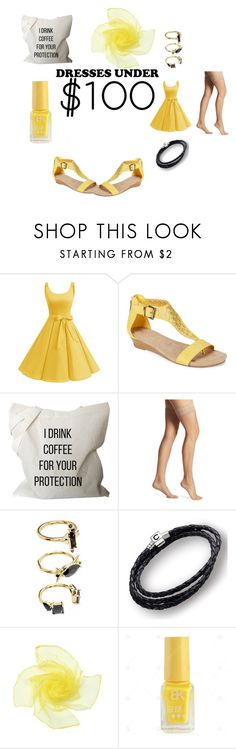 """""""Kind of sun"""" by racheldenisnefeke ❤ liked on Polyvore featuring Kenneth Cole Reaction, Donna Karan, Noir Jewelry, Chamilia and under100"""