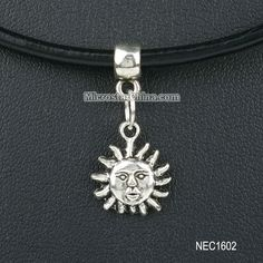 Genuine Leather Sun Choker Necklace Grunge 90s 1990s Festival Summer #1990s, #Party