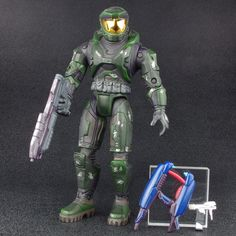 "Halo MASTER CHIEF Green Battle Damaged 7.5"" Action Figure Exclusive Joyride #JoyrideStudios"