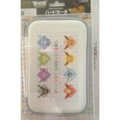 Pokemon Center 2013 Nintendo 3DSLL/DSiLL/3DS/DSi/DSLite Eevee Esepon Flareon Glaceon Jolteon Leafeon Umbreon Vaporeon Hard Pouch Carrying Case