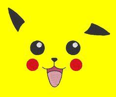 Pikachu face Embroidery design JoliKrea sur Etsy