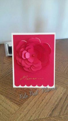 Carte  bon fête  maman  silhouette