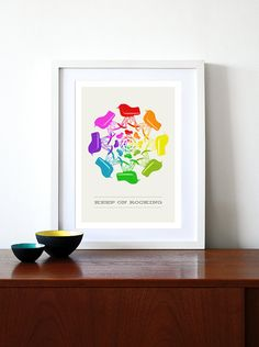 Eames poster print - Keep On Rocking 2 - A3 Midcentury modern chair Herman Miller furniture home